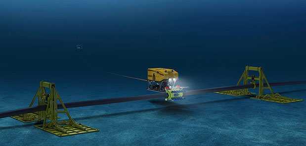 Robot sửa chữa cáp quang biển - Nguồn: Oceaneering