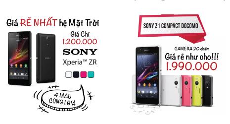 Một quảng cáo về những chiếc smartphone hết thời của Sony.