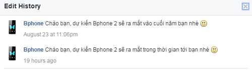 Đại diện trang Bphone khẳng định sẽ có Bphone 2.