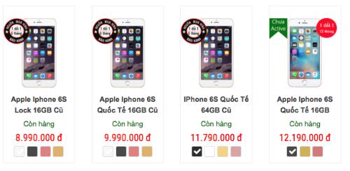 Giá iPhone 6s, 6s Plus trên thị trường xách tay biến động mạnh.