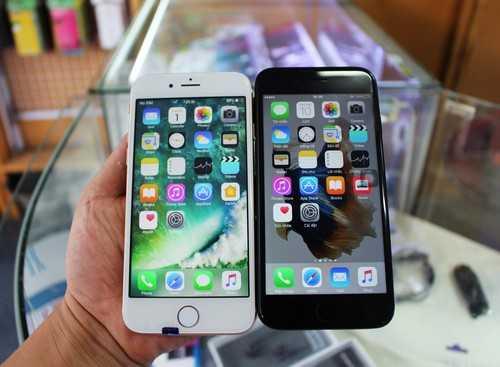 Rất khó phân biệtiPhone 7 hàng nhái (bên trái) vàhàng thật.