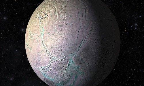 Mặt trăng Enceladus của sao Thổ.