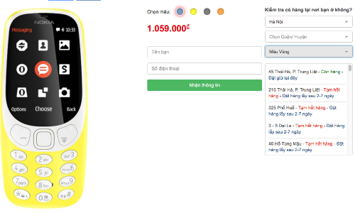 Nhiều hệ thống lớn và cửa hàng thông báo hết hàng Nokia 3310 chỉ sau đúng một ngày.