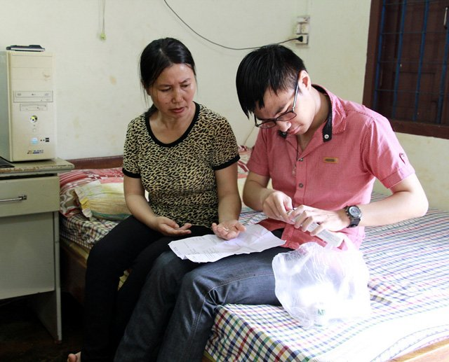 Ngọc rất thương và quan tâm đến sức khỏe của mẹ