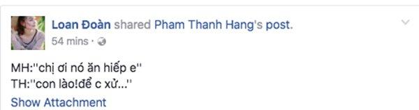 Hinh anh Bi chen ep bo The Face, Minh Hang duoc 'chi dai' Thanh Hang an ui 4