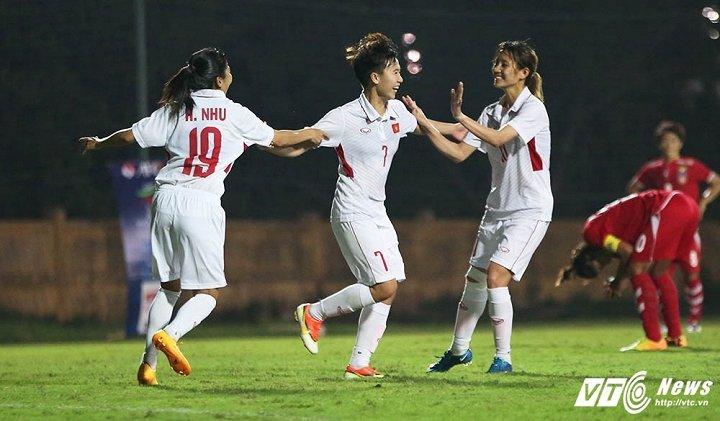 Hinh anh Tuyen nu Viet Nam: Chien dau can truong de gianh ve di Asian Cup 2018 26