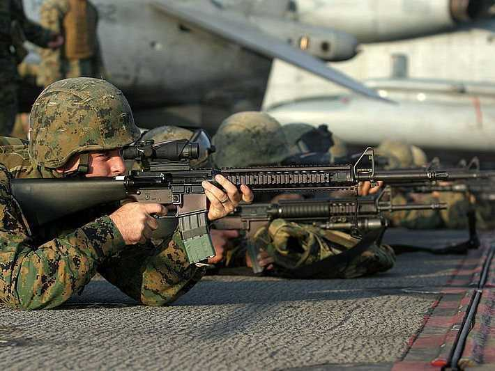 variants-of-the-m16-rifle-which-takes-556mm-nato-rounds-have-been-standard-issue-for-the-us-military-since-1969-the-m16a4-pictured-below-is-the-service-rifle-of-the-us-marine-corps