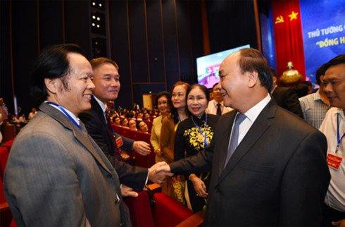 Hinh anh Truc tiep: Thu tuong doi thoai voi cong dong doanh nghiep 9