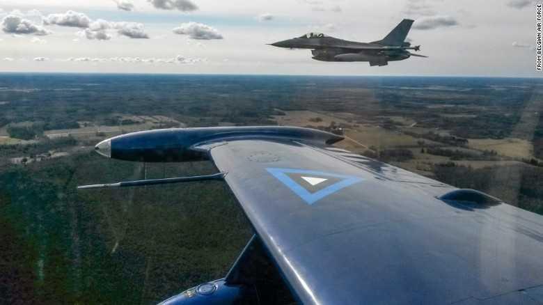Chiến cơ F-16 của Bỉ làm nhiệm vụ bay tuần tra ở khu vực Biển Baltic