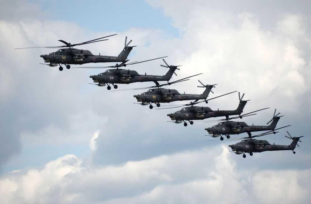 Các trực thăng vũ trang Mi-28N, thường được gọi là \'Thợ săn đêm\'