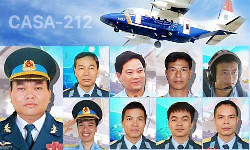 Danh sách tổ bay CASA 8983 hy sinh