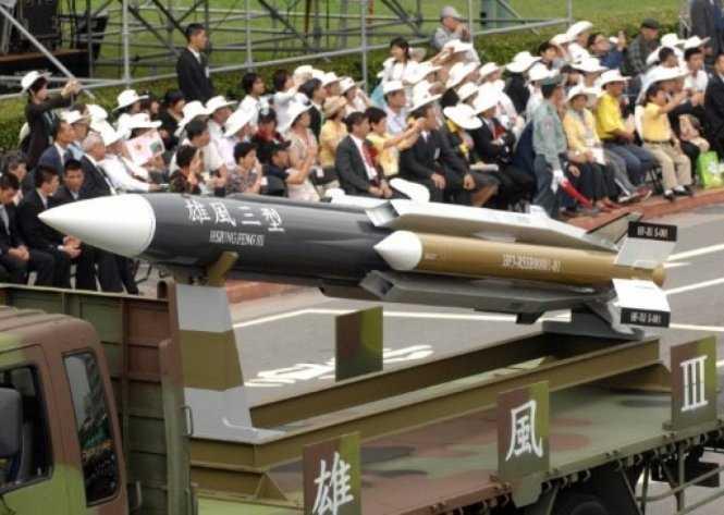 Một mẫu tên lửa siêu âm chống hạm Hsiung-feng III của Đài Loan