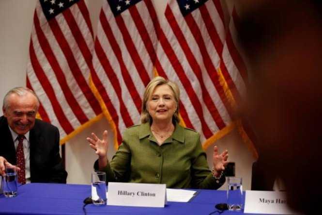 Ứng cử viên tổng thống đảng Dân chủ Hillary Clinton - Ảnh: Reuters