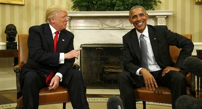 Vua che Obama, Trump noi ca hai da 'tro chuyen rat vui ve' hinh anh 1