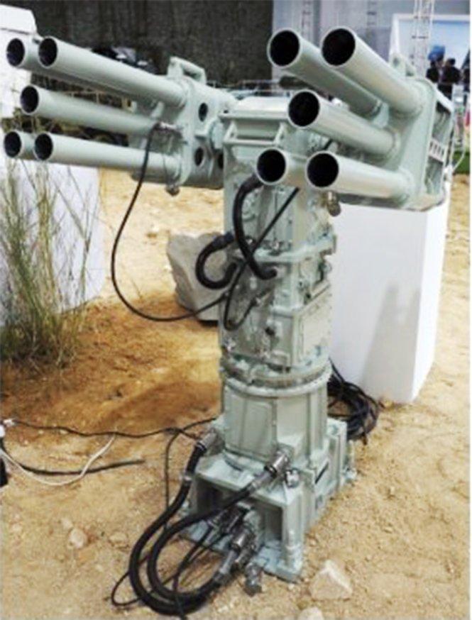 Dàn súng rốc-két chống người nhái CS/AR-1 được Trung Quốc triển khai trái phép ở Trường Sa - Ảnh: IHS Jane's