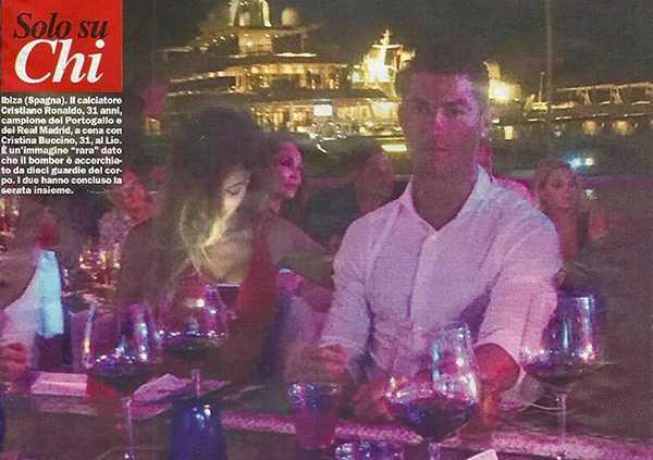 Ronaldo, Cristiano Ronaldo, Cristina Buccino, Ibiza, tình một đêm