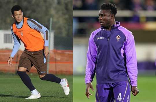 Ravel Morrison (trái) và Micah Richards là những cầu thủ Anh hiếm hoi chơi bóng ở Serie A thời gian gần đây và họ đều không thành công