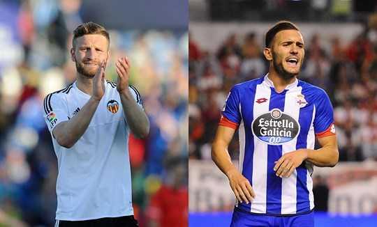 Mustafi (trái) và Perez là những cầu thủ đáp ứng đủ 4 tiêu chí của HLV Wenger