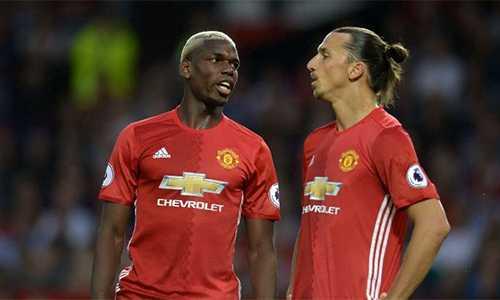 Ibrahimovic đang toại nguyện khi được chơi cạnh Pogba trong màu áo Man Utd.