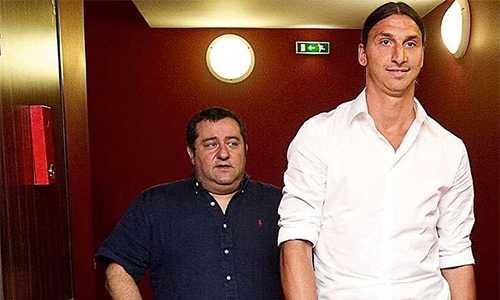 Raiola, Ibrahimovic cộng tác hơn một thập niên, trong vai trò người đại diện - cầu thủ.
