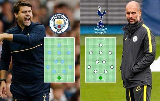 Trận chiến giữa Tottenham và Man City sẽ chứng kiến cuộc đối đầu của 2 HLV từng không xa lạ nhau Pochettino và Guardiola