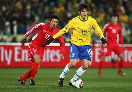 An Yong-hak cùng các đồng đội đã có trận ra quân quả cảm trước đội bóng hùng mạnh Brazil của Kaka