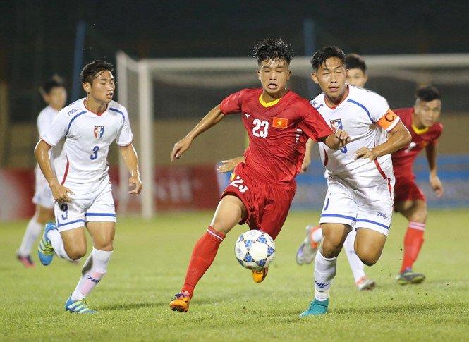 Hinh anh Video ket qua U19 Viet Nam vs U19 Dai Loan: U19 Viet Nam choi hay hon dan em Cong Phuong