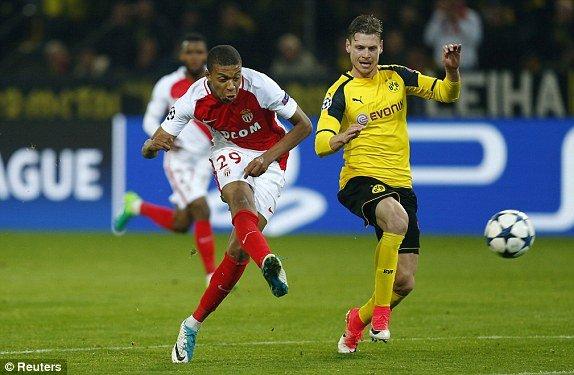 Hinh anh Link xem truc tiep Dortmund vs Monaco Tu ket cup C1 chau Au 18