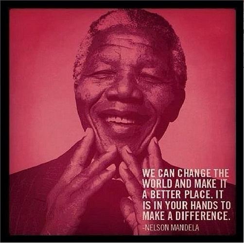 'Chúng ta có thể thay đổi thế giới và làm cho nó trở nên tốt hơn. Điều đó nằm trong tay bạn để tạo ra sự khác biệt'