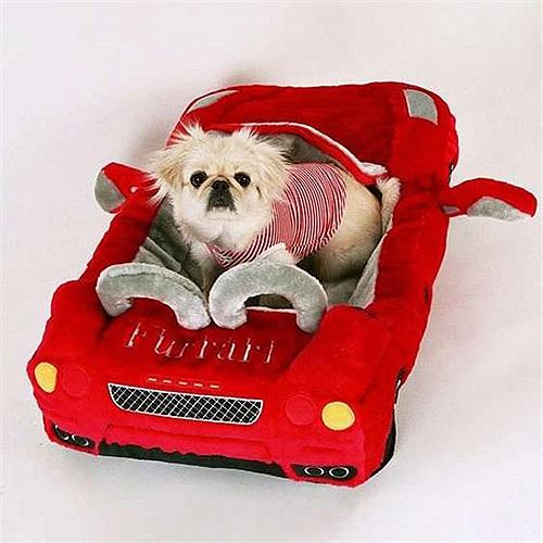 Giường cho chó mèo hình xe Ferrari, một món quà xinh xắn dịp Giáng sinh