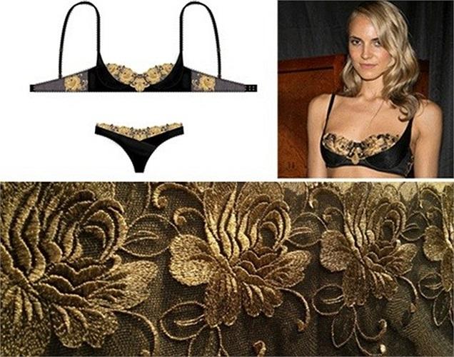 Hãng Rococo Dessous  của Thụy Sĩ đã cho ra mắt nhiều phụ kiện được làm bằng vàng từ áo ngực, dép tông, bikini… với giá từ 1.500 tới 6.000 USD. Mỗi sản phẩm đều được dệt từ sợi vàng 24 carat tại Thụy Sĩ, khâu thủ công tại New York và được làm theo yêu cầu của khách hàng.