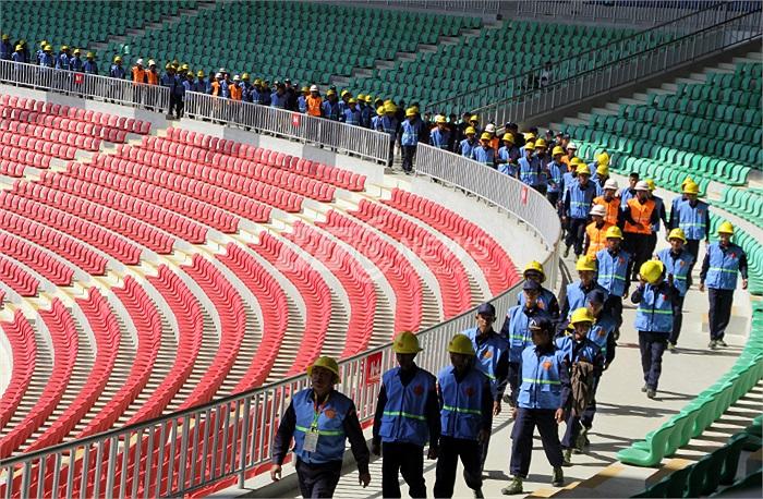 Để xây dựng nên những công trình hoành tráng phục vụ SEA Games 27, Myanmar đã huy động một nguồn lực khổng lồ.
