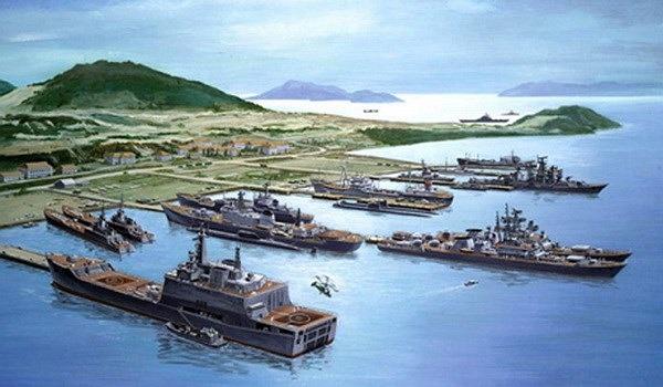 Đồ họa quân cảng Cam Ranh, nơi được cho là căn cứ chính của tàu ngầm HQ 182 Hà Nội. (Nguồn: ru.wikipedia.org)