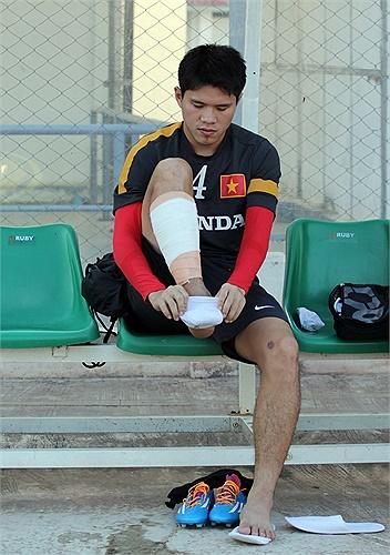 Trung vệ Dương Thanh Hào trở lại tập luyện cùng U23 Việt Nam sau thời gian dài bị chấn thương.