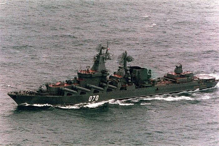 Đứng đầu danh sách là Tuần dương hạm Marshal Ustinov, đang phục vụ trong Hạm đội Biển Bắc