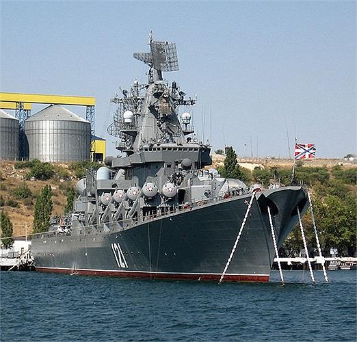 Moskva là tàu tuần dương tên lửa hành trình hiện đại, có khả năng tấn công các nhóm tàu sân bay trên đại dương