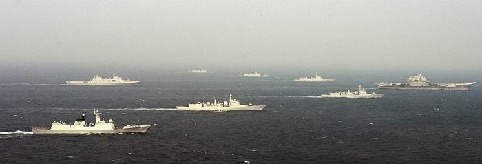 Đội hình trên biển của nhóm tàu sân bay Liêu Ninh, Trung Quốc