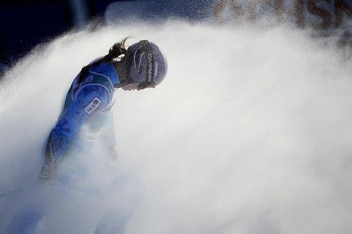 Vận động viên trượt tuyết tham gia giải đấu ở Thụy Sĩ