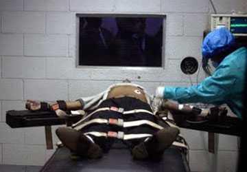 Thi hành án tử hình bằng tiêm thuốc độc ở Mỹ. Ảnh: OZZIE NEWS