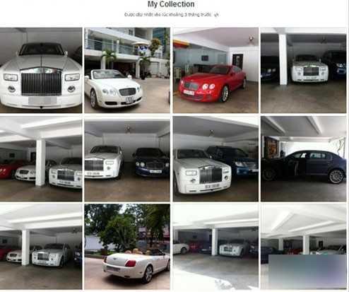 Garage xe của nhà Phan Thành.