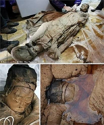 Xác ướp đã gần 700 tuổi được công nhân tỉnh Giang Tô (Trung Quốc) phát hiện cùng với hai ngôi mộ bằng gỗ khác. Xác ướp được cho là của một người phụ nữ quý tộc thời Minh (1368 - 1644) và được bảo quản gần như còn nguyên vẹn với da, tóc, lông mi.