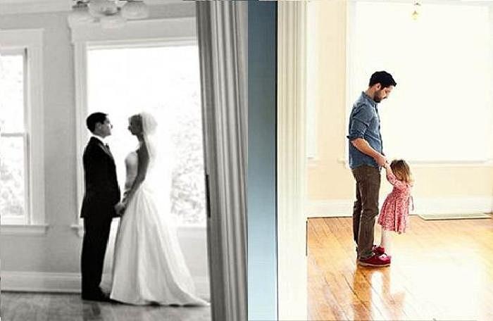 Người đàn ông góa vợ này chia sẻ, con gái tôi còn quá nhỏ để có thể thấu hiểu hết ý nghĩa của bộ ảnh cưới đặc biệt này.