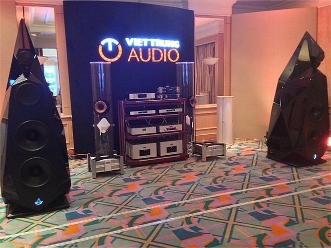 Hệ thống âm thanh cực khủng của Viettrung Audio mang tới triển lãm