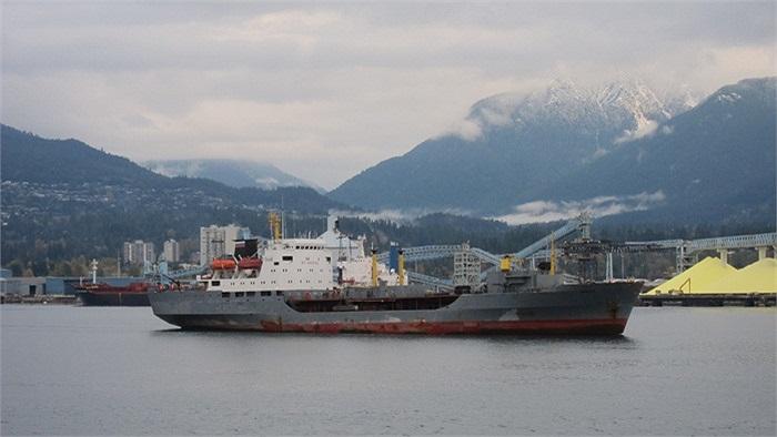 Đi theo hỗ trợ có tàu chở dầu Irkut của Hạm đội Thái Bình Dương
