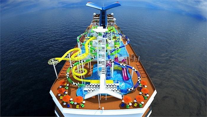 Carnival Vista: Trị giá 975 triệu USD. Con tàu mới nhất của công ty đóng tàu Carnival sẽ được hoàn thành vào năm 206. Với sức chứa 4.000 du khách, đây sẽ là khu tập trung những nhà hàng, sòng bạc cũng như khu vui chơi ngoài trời sang trọng bậc nhất t