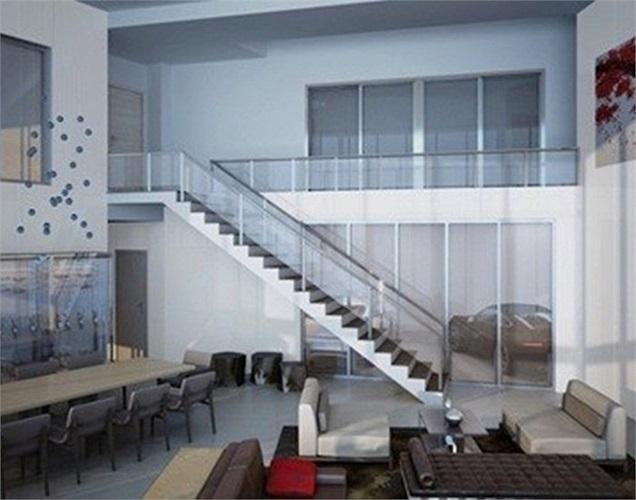 Các căn hộ rộng rãi và sang trọng. Thiết kế mở giúp chủ nhân có thể thấy được xe của họ mọi lúc.