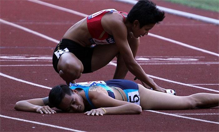 VĐV Thái Lan cũng ở trạng thái kiệt sức