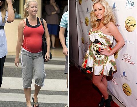 Kendra Wilkinson cũng không thua chị kém em ở khoản giảm cân sau khi sinh con.