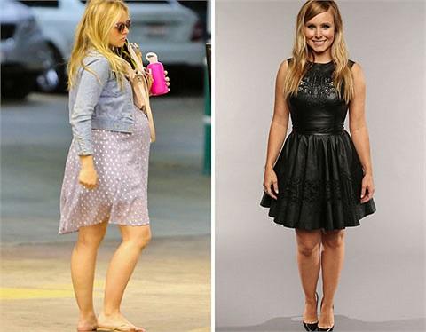 Kristen Bell còn bầu bí vào tháng 2/2013 và đến 5/5/2013 người đẹp đã diện bộ váy da dễ thương rất quyến rũ và gợi cảm.