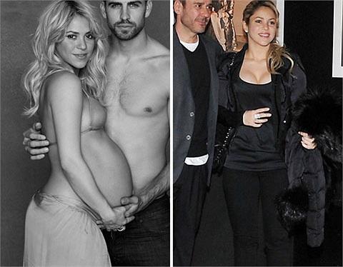Shakira sinh con đầu lòng vào tháng 1/2013 và cô tự tin với cơ thể khỏe mạnh, gọn gàng vào ngày 28/2 chỉ 1 tháng sau sinh.